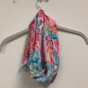 mini lilly pulitzer wrap scarf